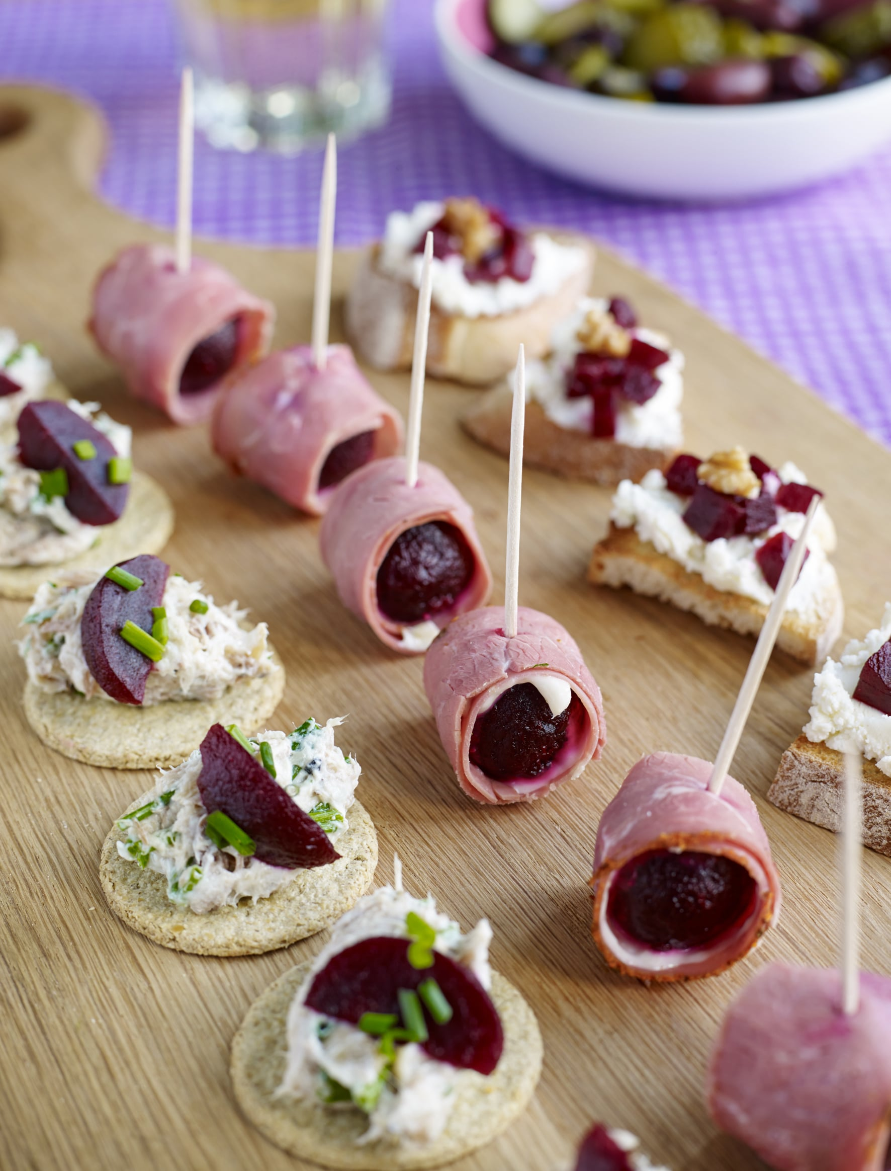 Easy infused beetroot canap s love beetroot uk for How to make canape